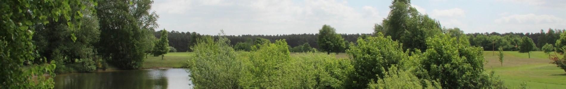 Landschaft auf der Golfanlage Kallin