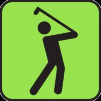 Bild Piktogramm Golfspieler