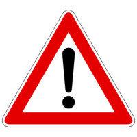 Bild Gefahrstelle - Gefahrzeichen