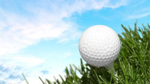 Bild Golfball im Rasen