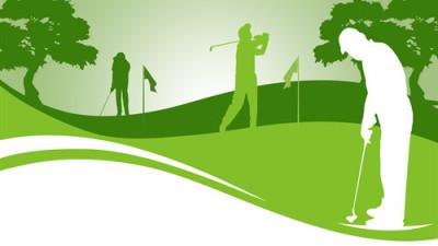 Bild Zeichnung Golfer