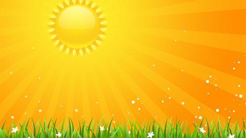 BildZeichnung Sonne mit Wiese