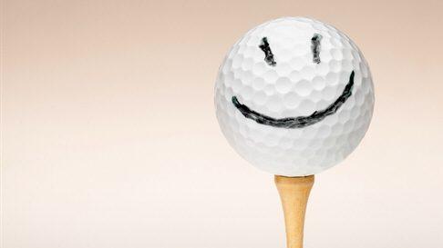 Bild Golfball mit Gesicht