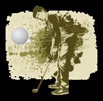Bild Zeichnung Golfer im Anzug