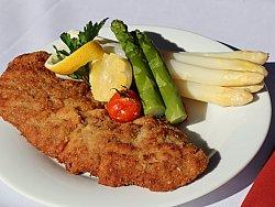 Bild Schnitzel mit Spargel