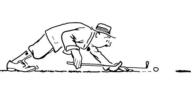 Bild Comic Golfspieler
